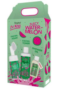 Set facial foam facial toner shower oil watermelon pack